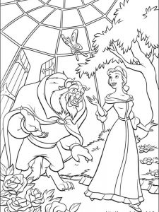 beauty and the beast colouring pages pdf