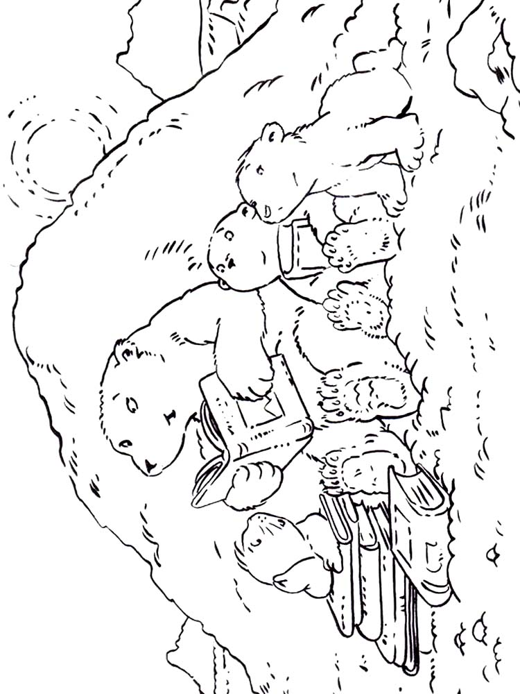 bedtime bear coloring pages