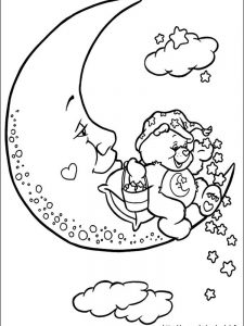 bedtime care bear coloring pages