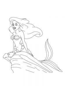 belle and ariel coloring pages