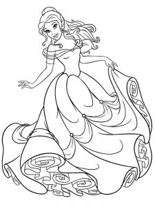 belle christmas coloring pages free