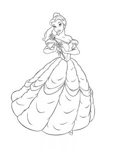 belle coloring pages easy free