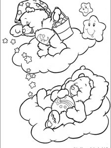 best friend care bear coloring pages