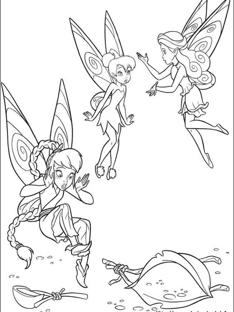 best tinkerbell print out coloring pages