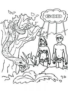 bible coloring pages adam and eve