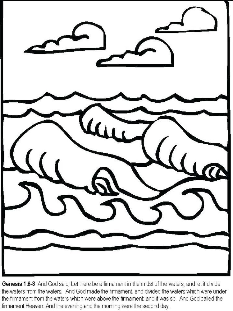 bible coloring pages days of creation