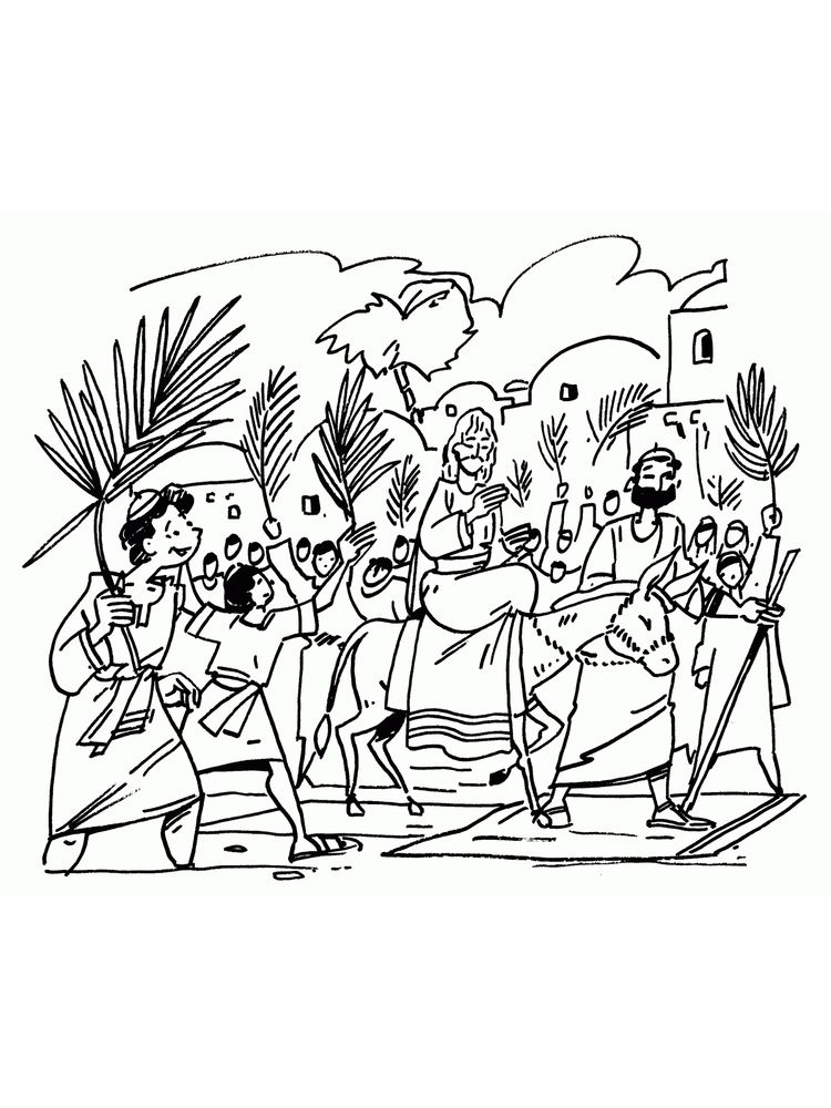 bible coloring pages palm sunday
