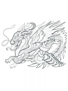 big dragon coloring page
