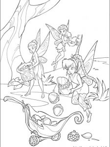 big tinkerbell coloring pages