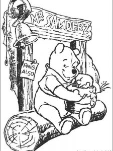 big winnie the pooh coloring pages