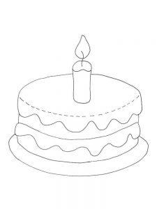 birthday cake and balloons coloring pages