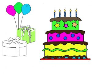 Printable Birthday Cake Coloring Pages For Kids