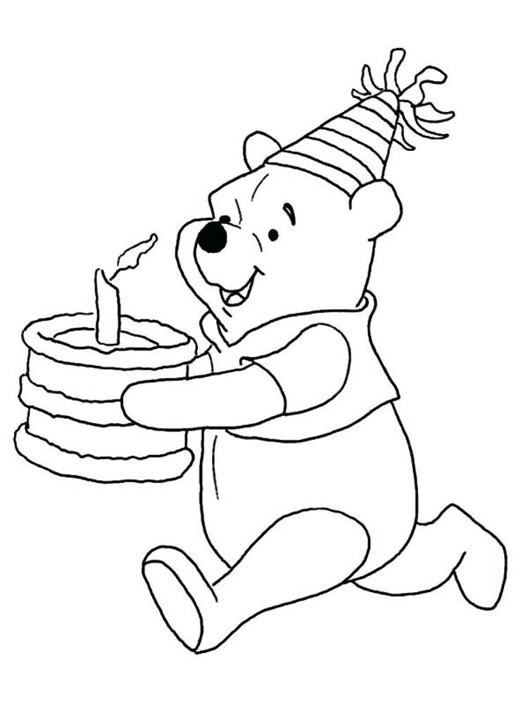 birthday cake coloring book page