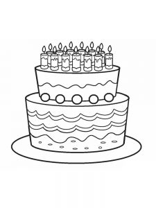birthday cake coloring pages download