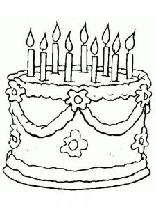 birthday cake coloring pages image