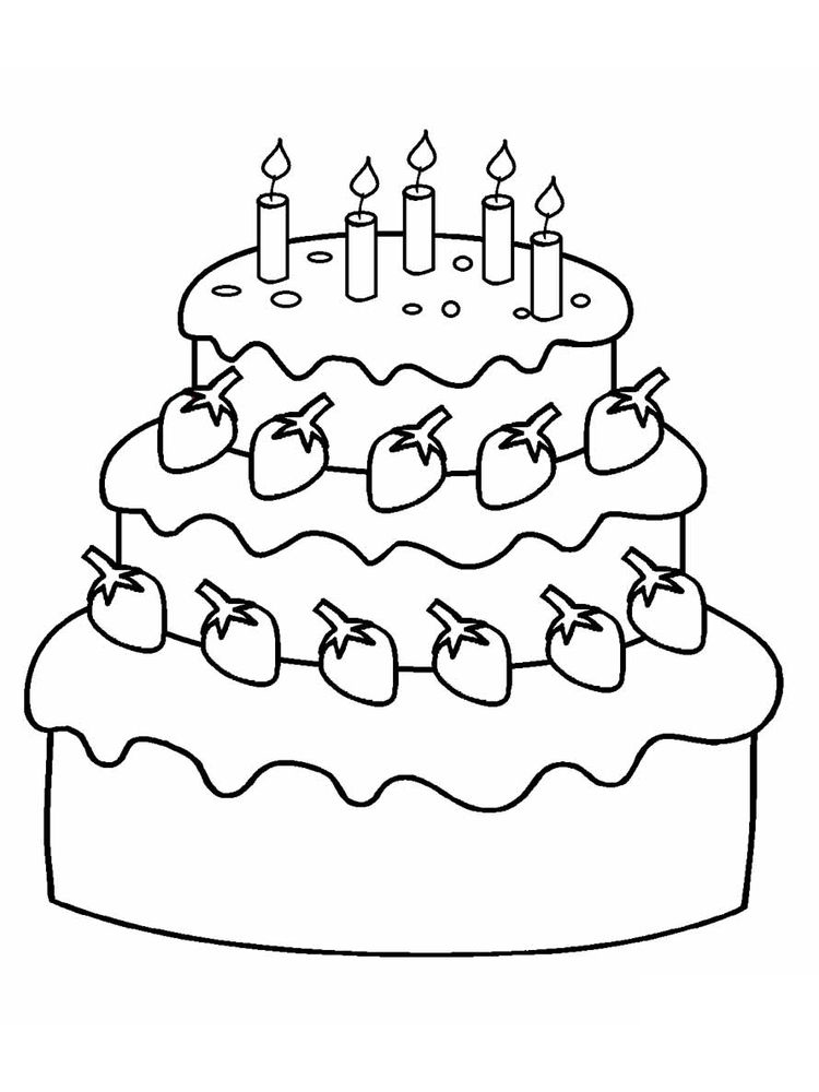 birthday cake coloring pages sheet