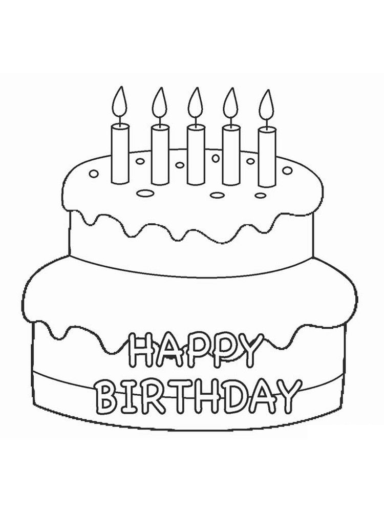 birthday cake coloring pictures