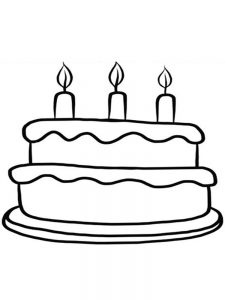 birthday cake coloring sheets free