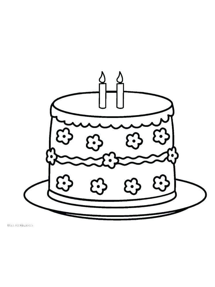 birthday cake party coloring pages