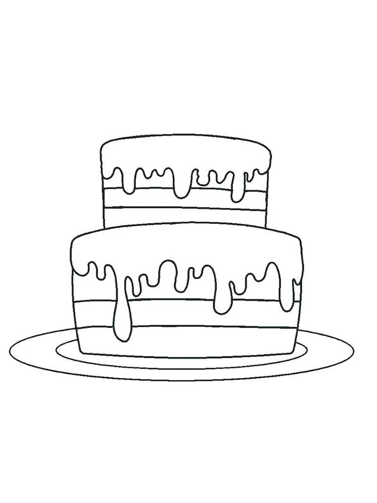 birthday cakes colouring pages