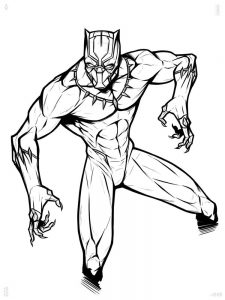black panther cartoon coloring pages free