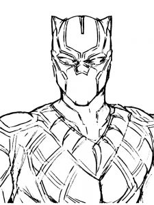 black panther cat coloring page