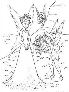black tinkerbell coloring pages