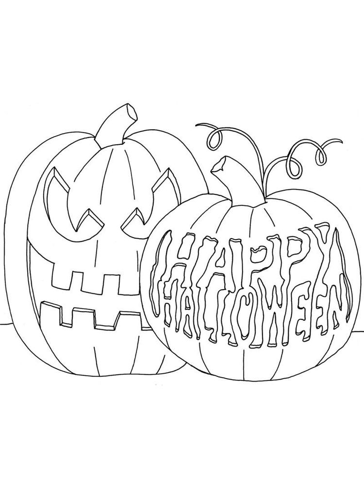 blank jack o lantern coloring pages