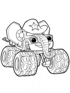 blaze and the monster machine coloring pages easy free
