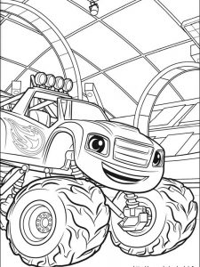 blaze and the monster machine colouring pages