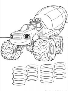 blaze and the monster machine free coloring pages