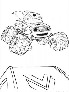 blaze and the monster machines colouring in pages