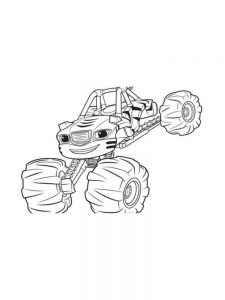blaze and the monster machines free coloring pages