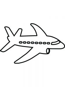 boeing airplane coloring pages
