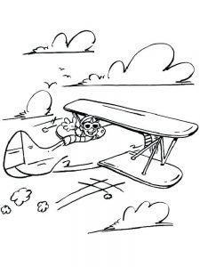 bomber plane coloring pages