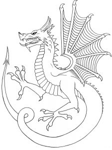 boneknapper dragon coloring page