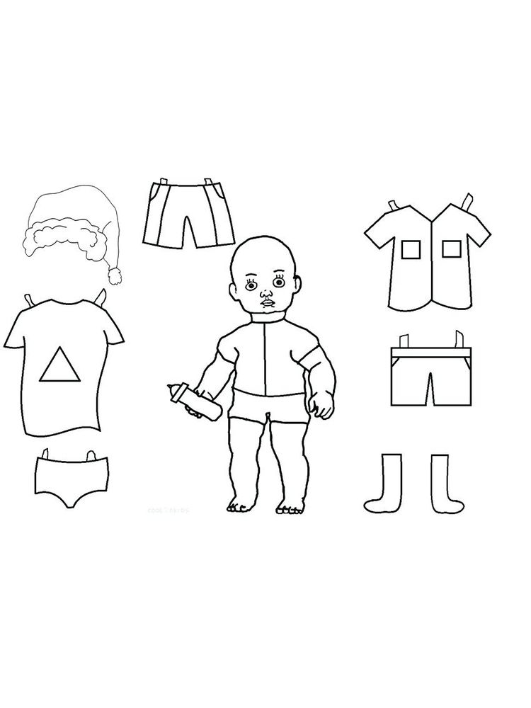 boy doll coloring page