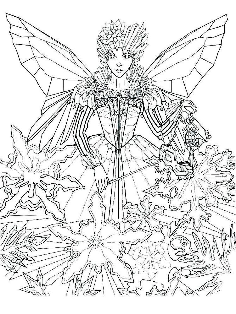 boy fairy coloring pages printable