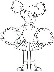bratz cheerleader coloring pages free printable