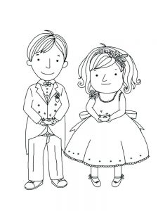 bride and groom coloring sheets pdf
