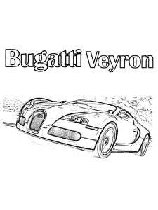 bugatti car coloring pages