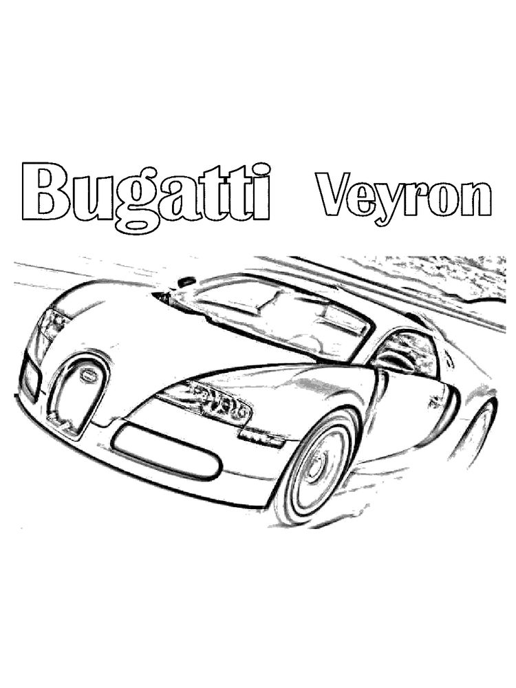 bugatti car coloring pages free
