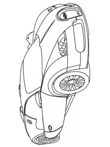 bugatti chiron coloring pages