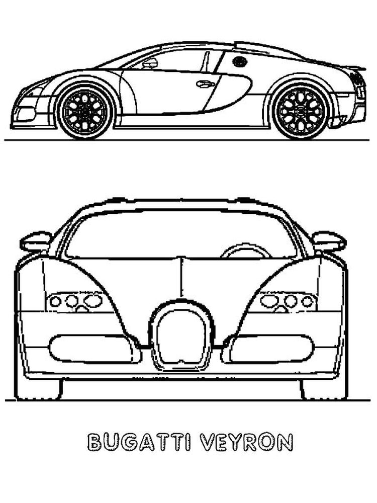 bugatti coloring pages black and white free