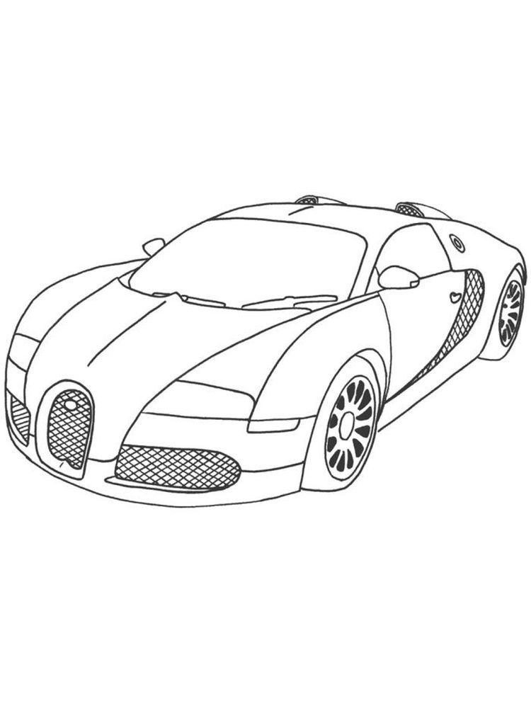 bugatti coloring pages print