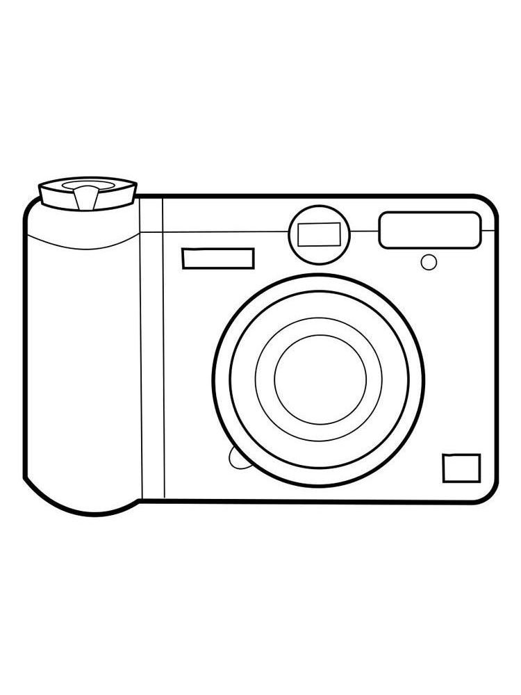 camera coloring pages easy