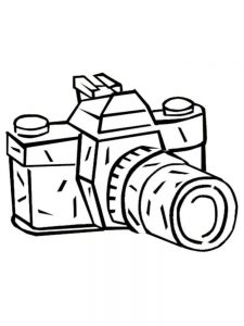 camera coloring pages printable