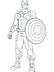 captain america and iron man coloring page