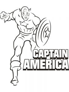 captain america color pictures