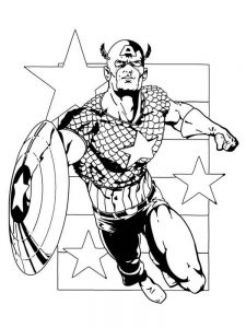 captain america colouring in page